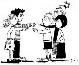 dzieci zwalające winę